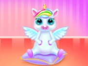 Cute Little Unicorn Caring And Dressup