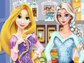 Elsa And Rapunzel Shopping