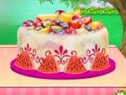 Fruity Ice Cream Cake Cooking
