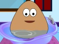 Baby Pou Bathing