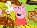 Peppa Pig feed the animals