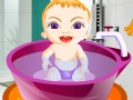 Cute Baby Girl Bath