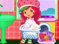 Strawberry Shortcake Washing Clothes