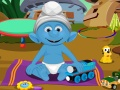 Smurfs Baby Bathing