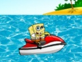 Spongebob on Jet Ski